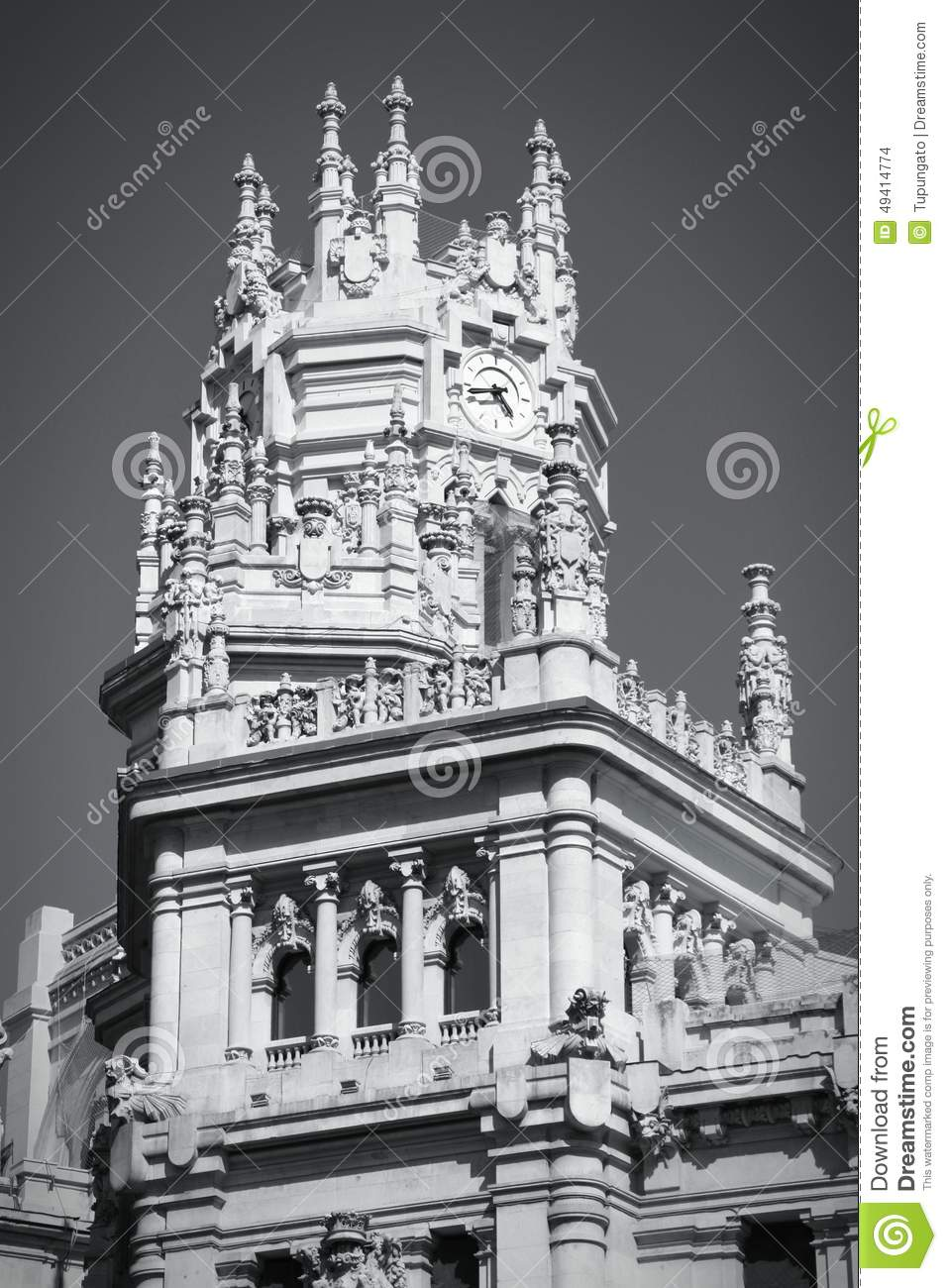 Download Cibeles, Madrid stockfoto. Bild von palast, historisch - 49414774