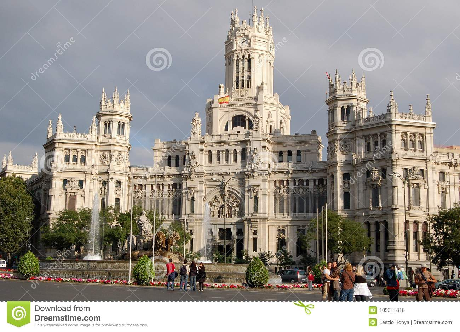 Cibeles Palace Madrid Editorial Stock Photo Image Of