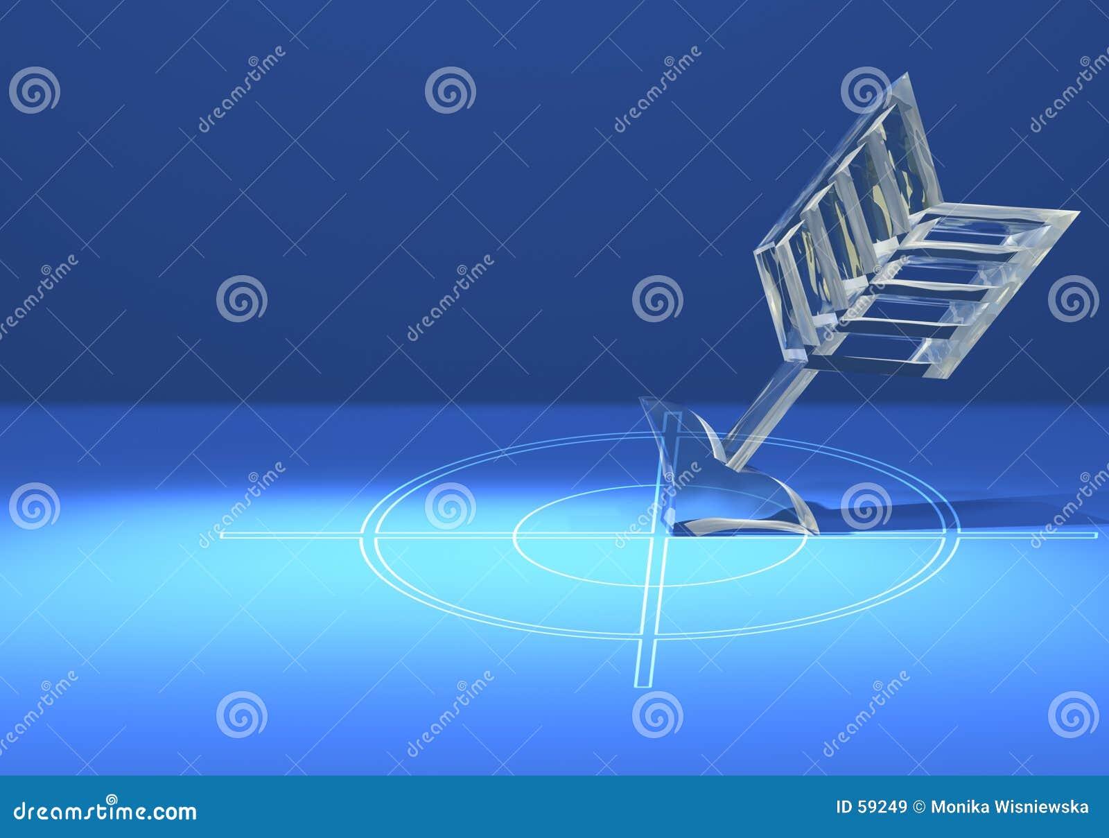 Download Cible Avec La Flèche En Verre Image stock - Image du concept, flèches: 59249