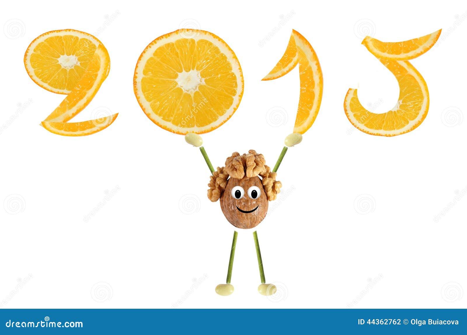 Cibo sano Il piccolo uomo divertente della noce alza 2015