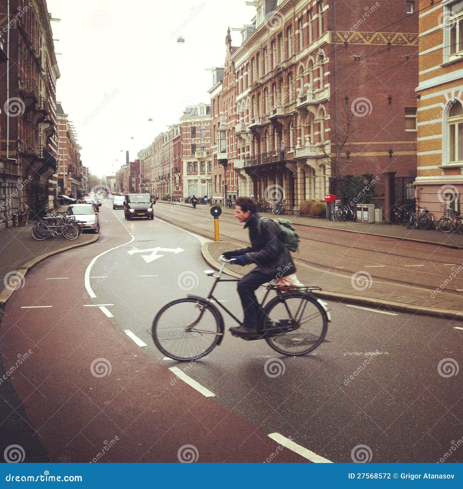 Ciclista a Amsterdam