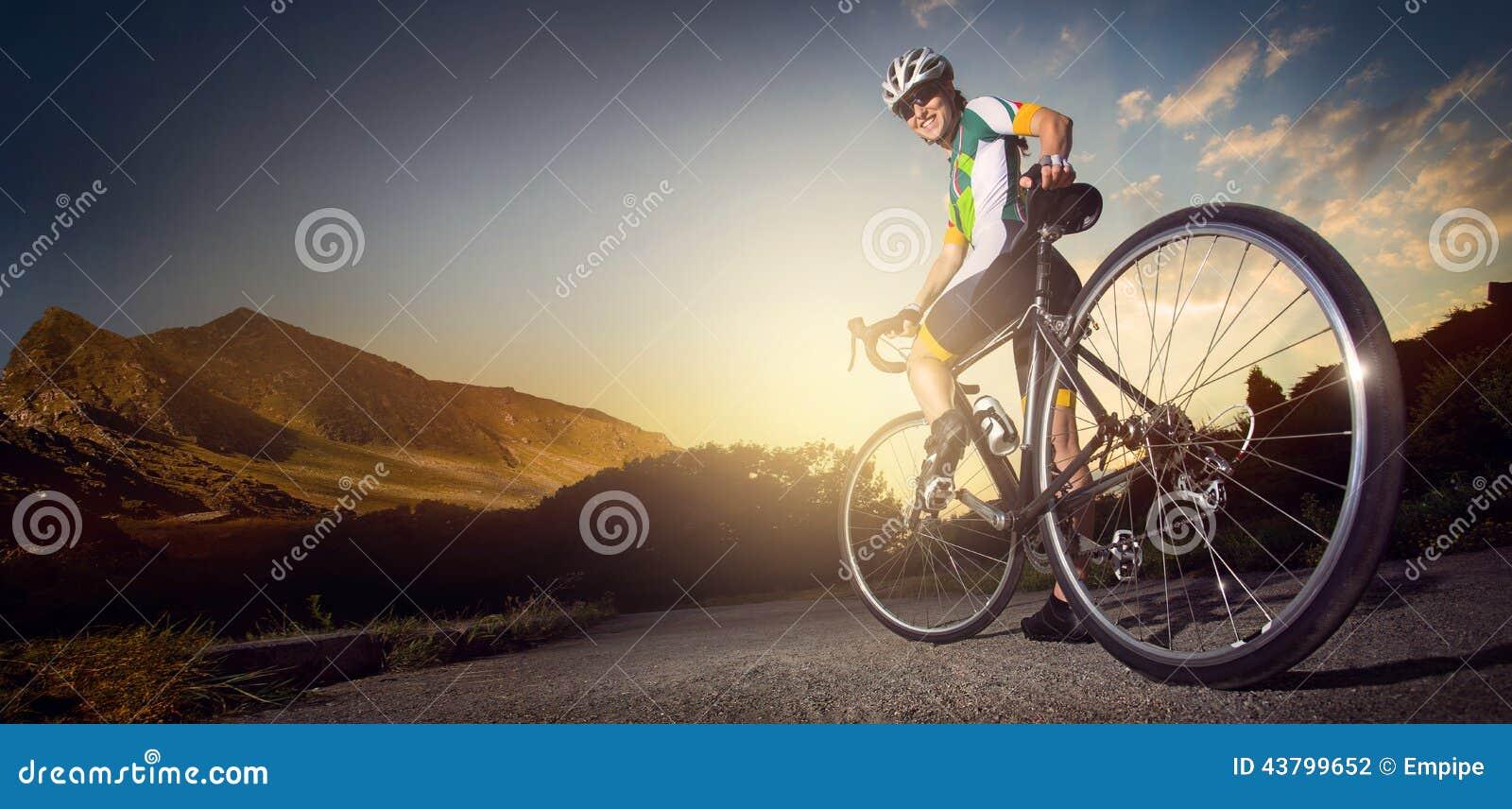 Ciclista della strada