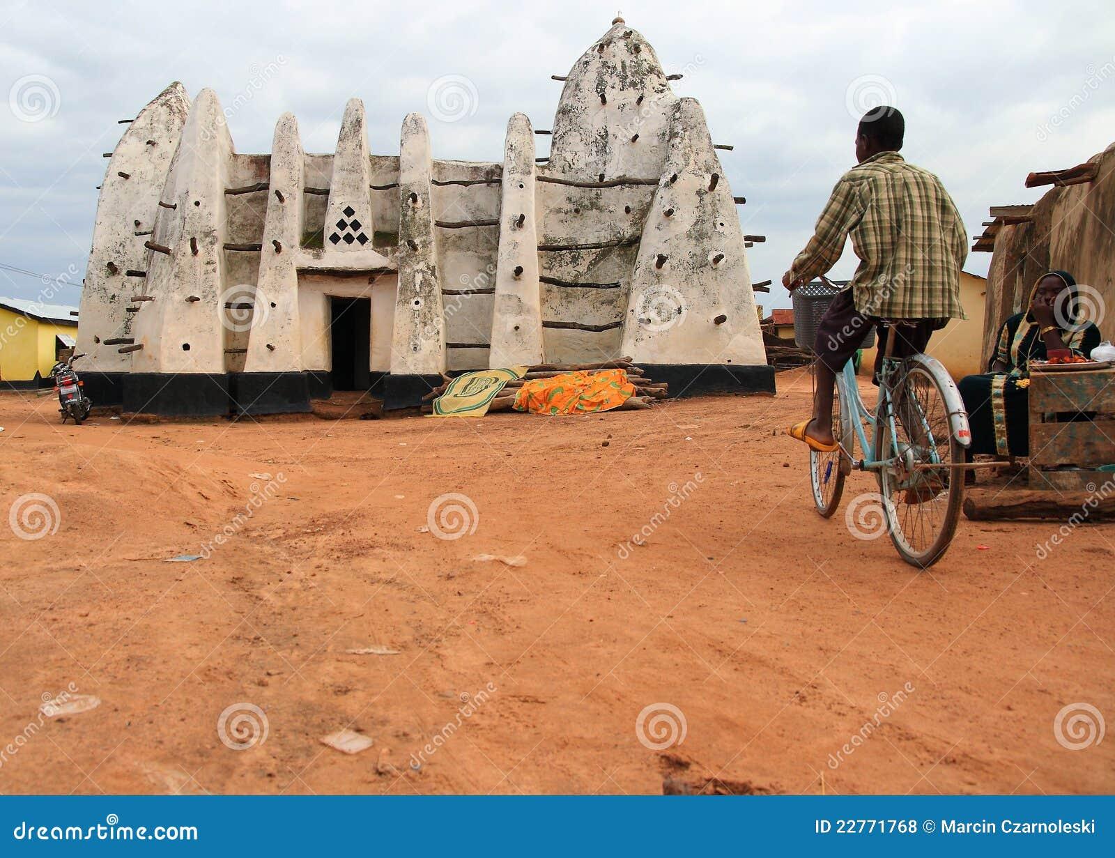 Ciclo para la adoración en una mezquita del africano de la arcilla