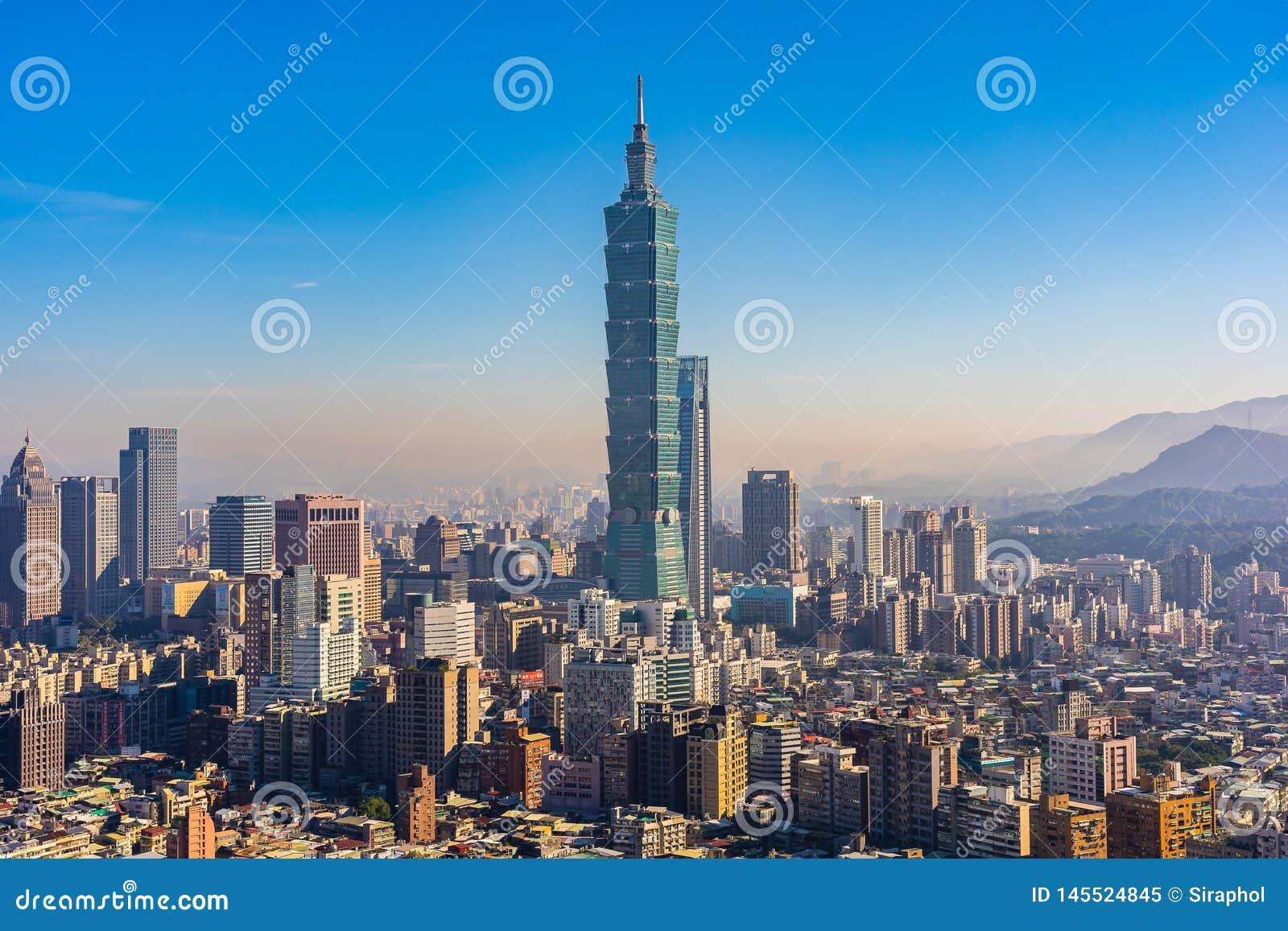 Cidade bonita de taipei da constru??o da arquitetura