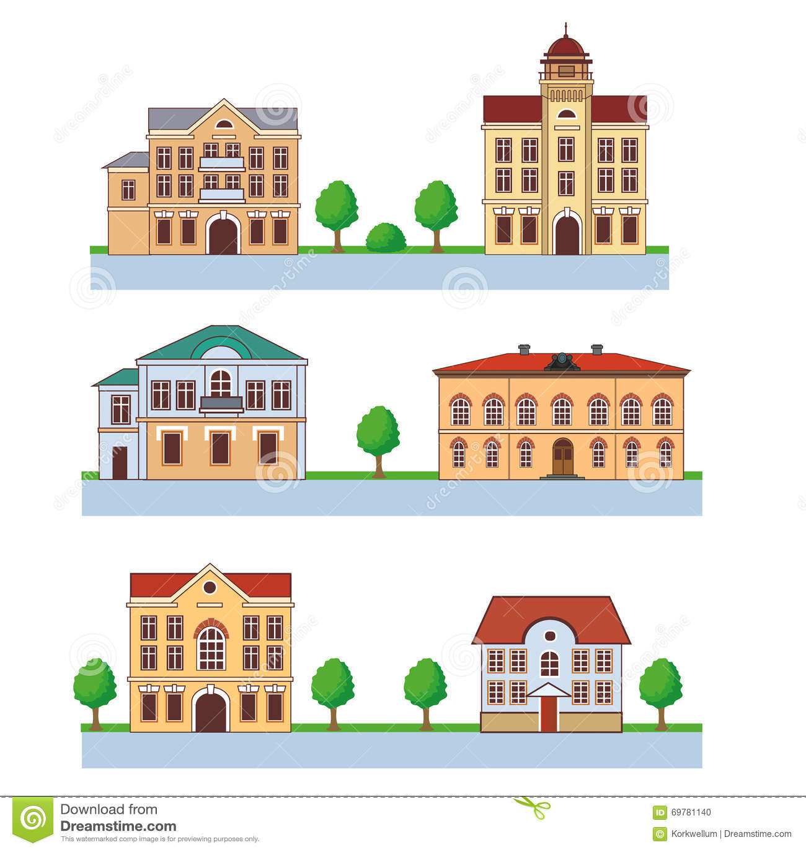 cidade com casas coloridas teste padrão sem emenda ilustração dos