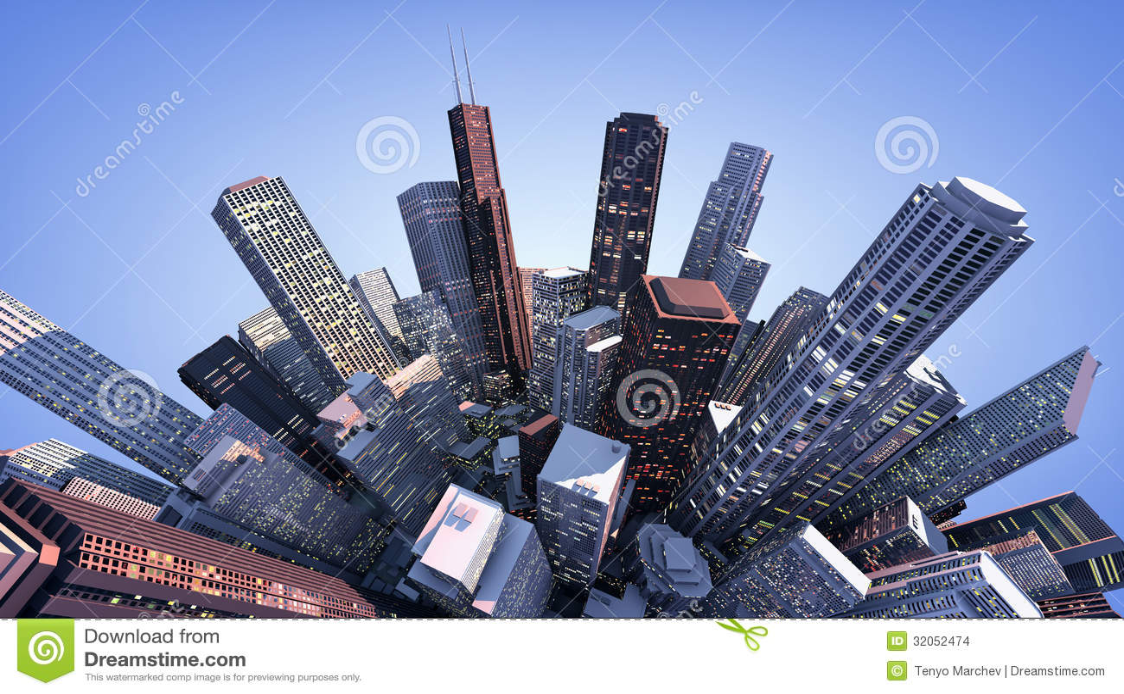 Cidade 3D moderna