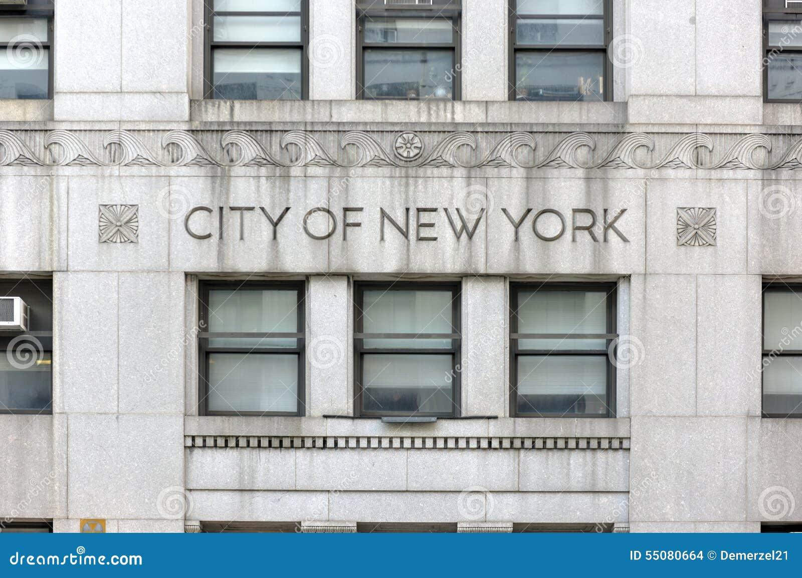 Cidade da construção do governo de New York