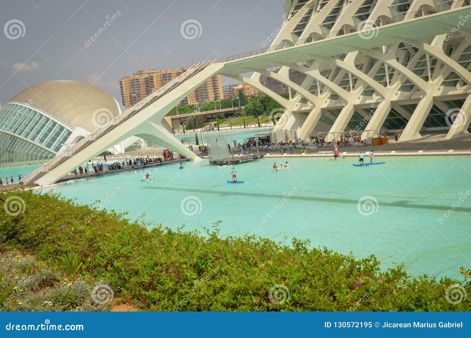 Cidade das artes e das ciências Valença Cidade de Valência da ciência Hemisferic Valência, Espanha