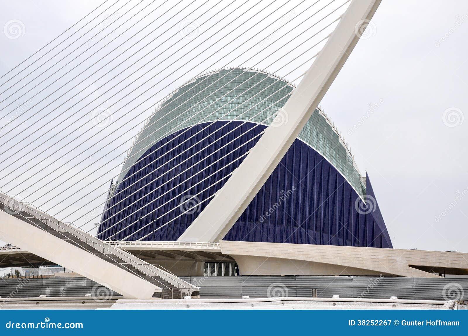 A cidade das artes e das ciências em Valência (Espanha)