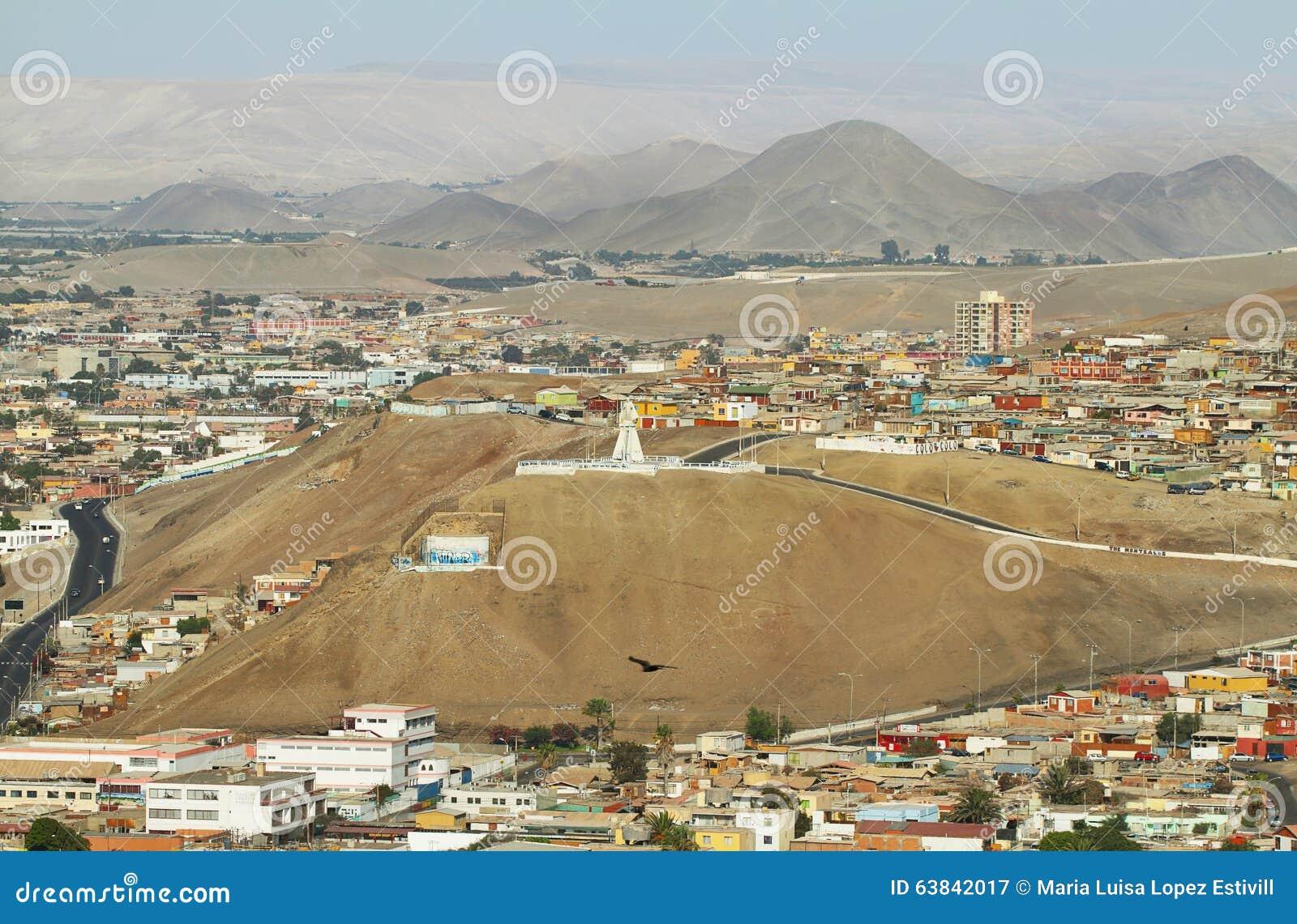 Cidade de Arica no Chile do norte