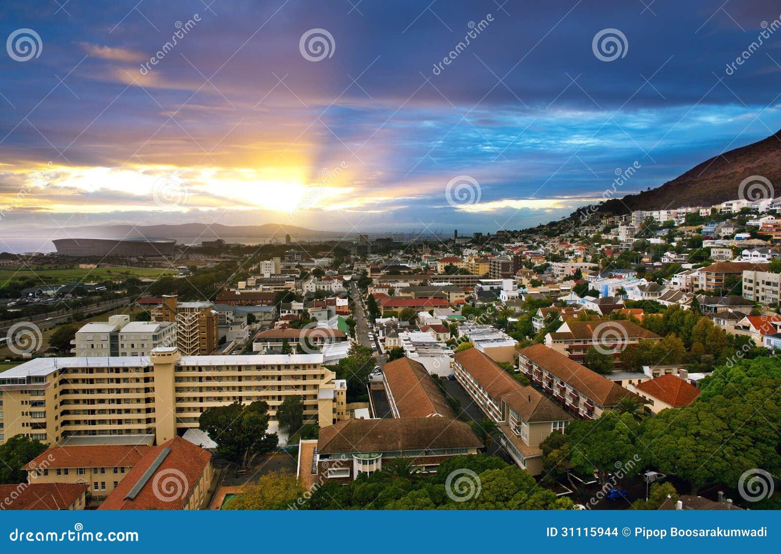 Cidade de Cape Town, África do Sul.