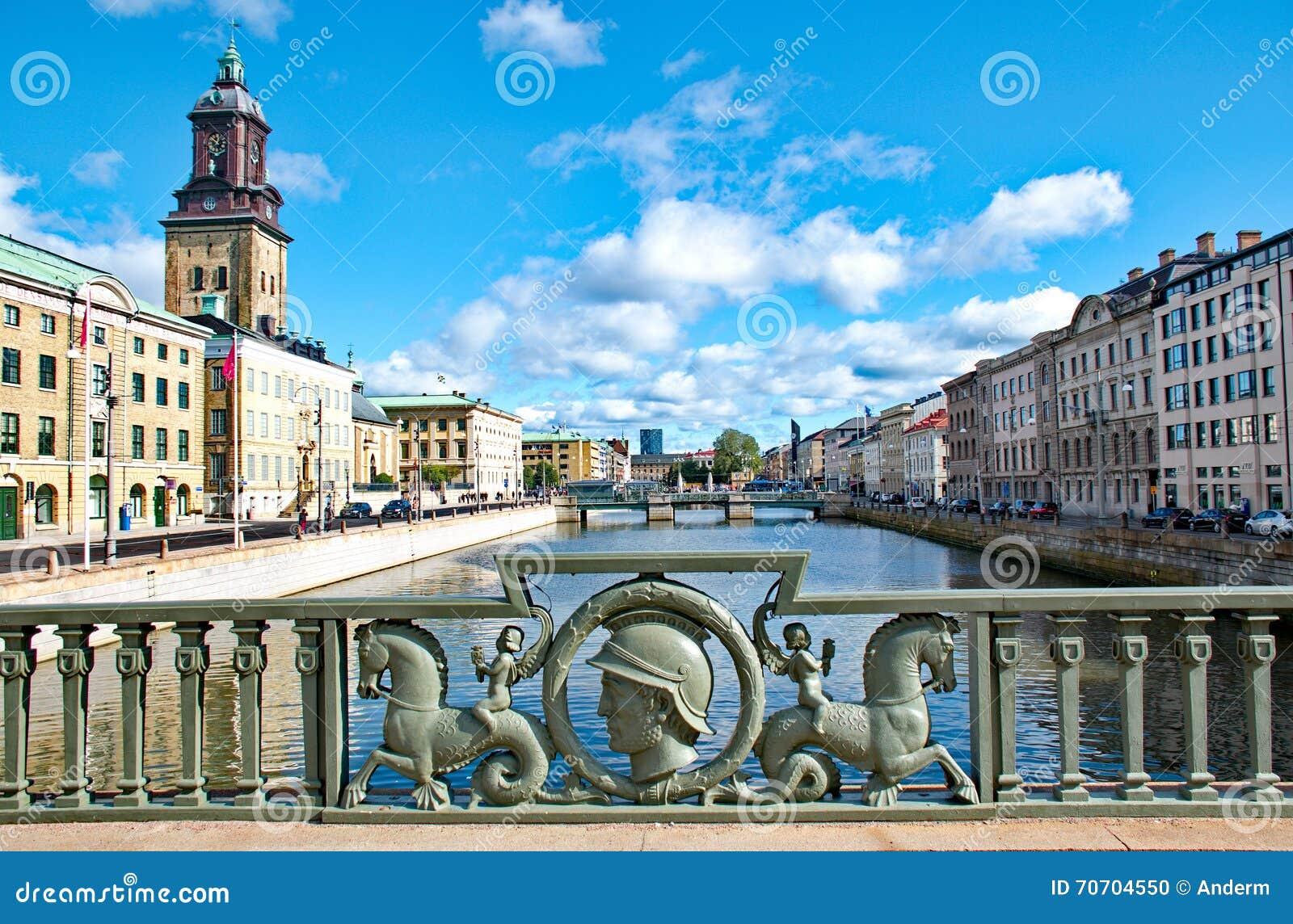 Cidade de Gothenburg na Suécia