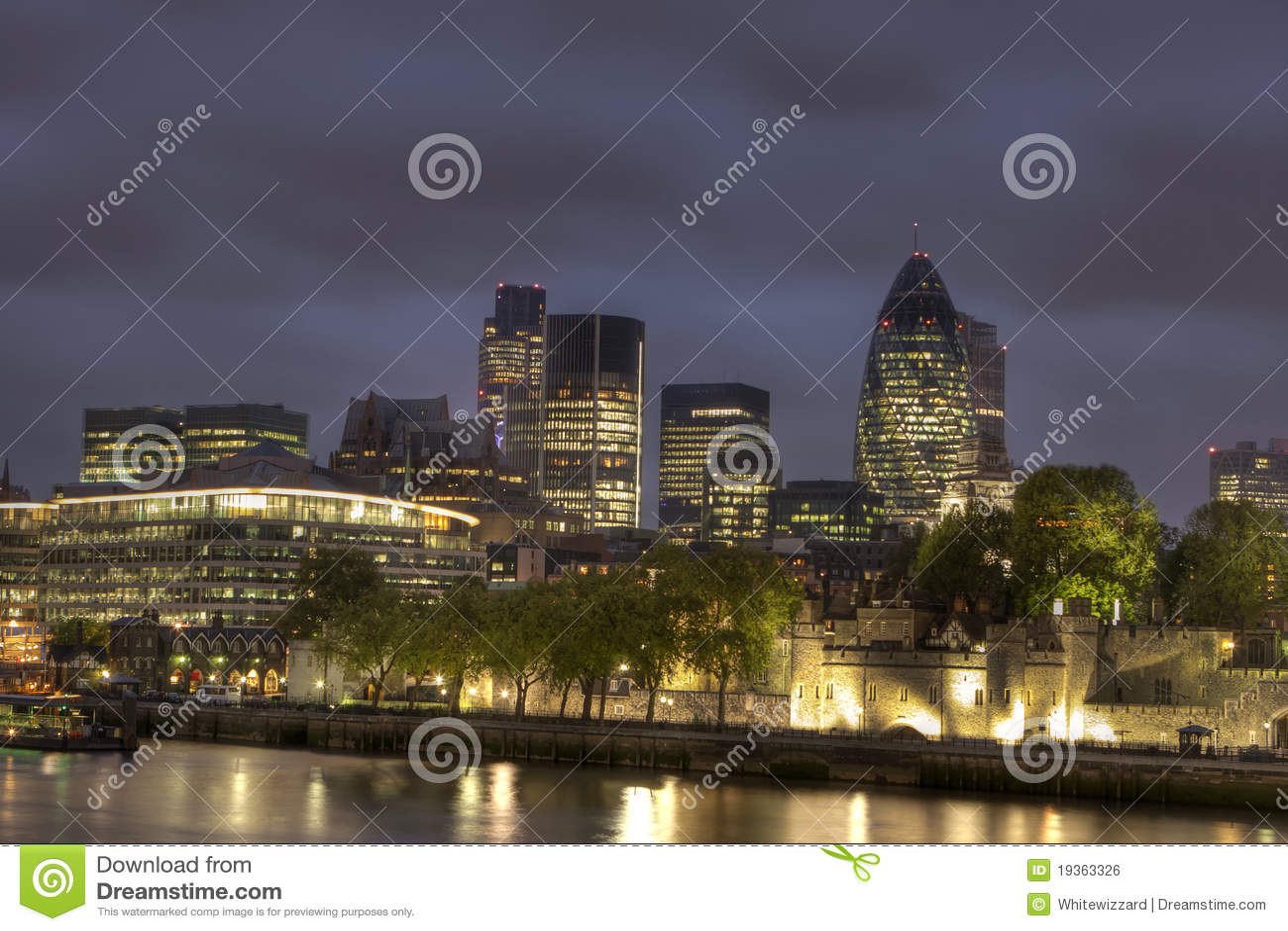 Cidade de Londres na noite