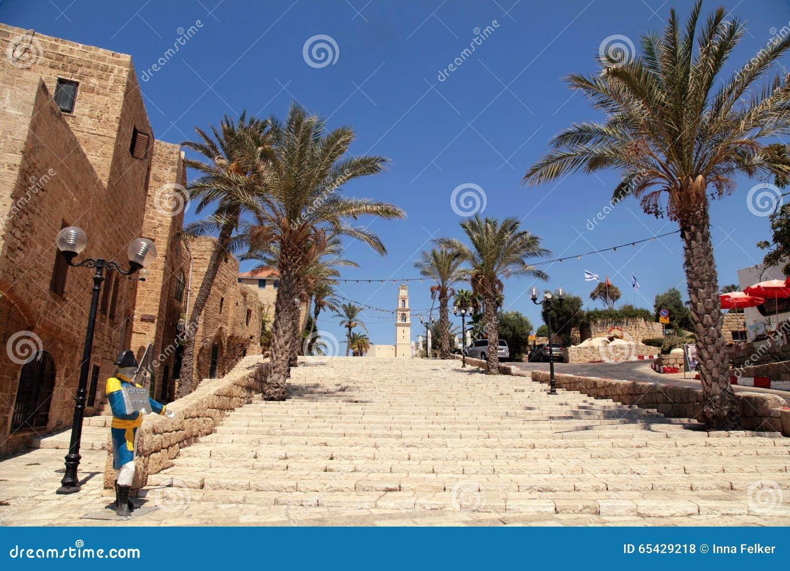 A cidade de porto velho de Jaffa em Tel Aviv, Israel. Após, antique.