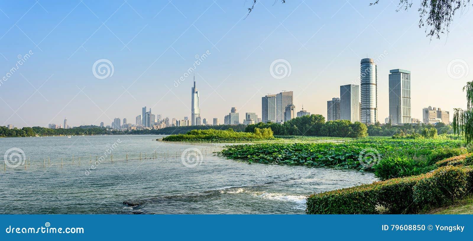 Cidade do lago e do Nanjin Xuanwu