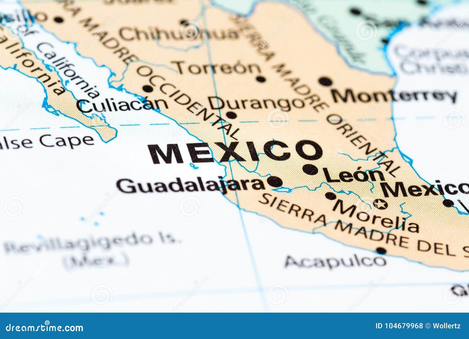 Cidade do México em um mapa