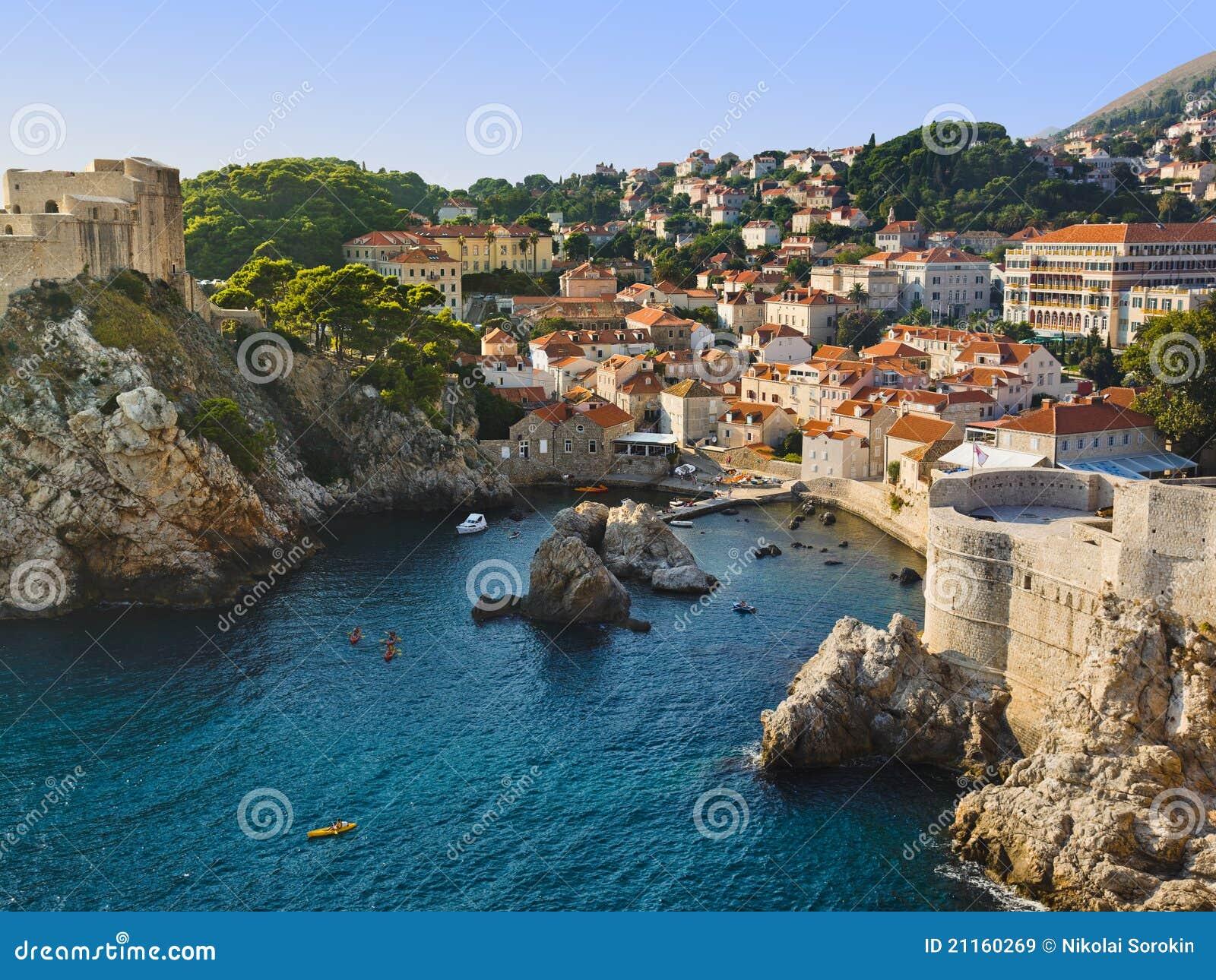 Cidade Dubrovnik em Croatia