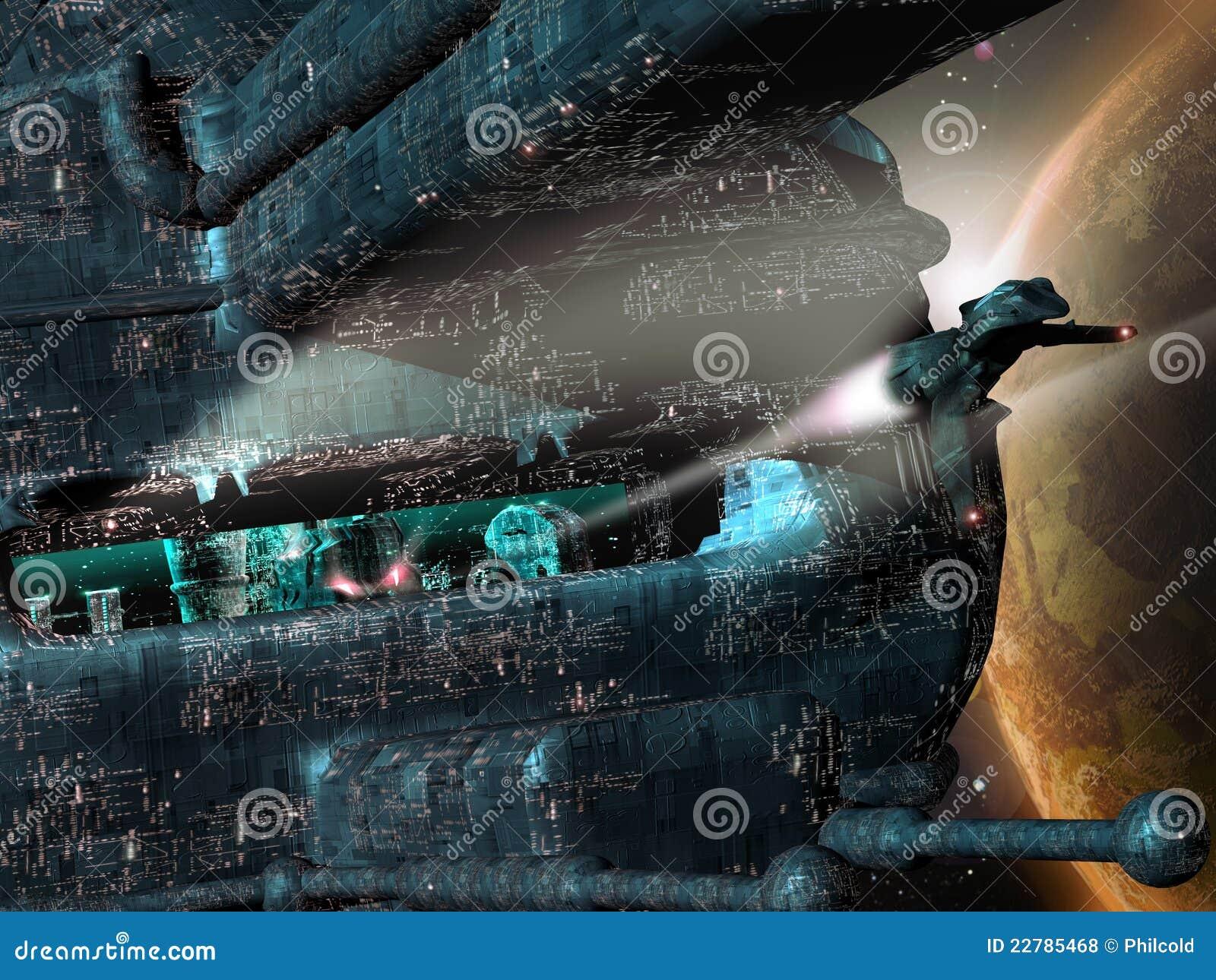 Cidade futura no espaço