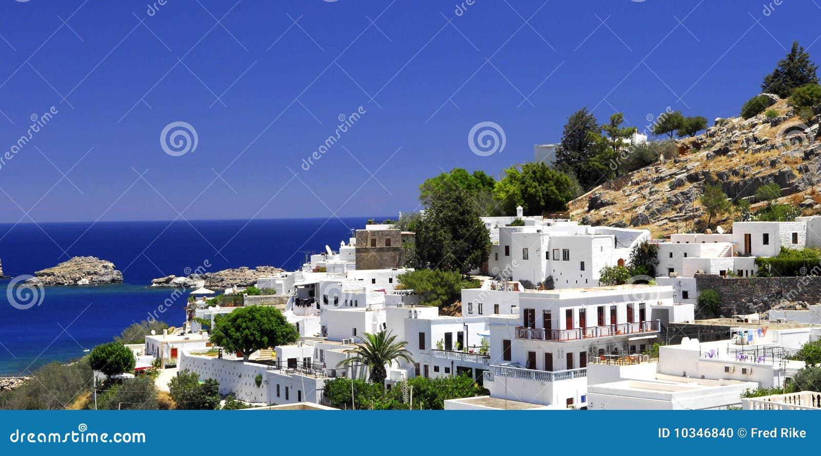 A cidade grega velha de Lindos
