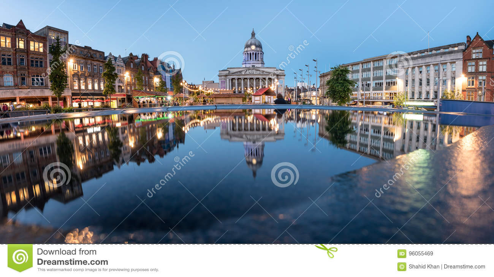 Cidade Hall England de Nottingham