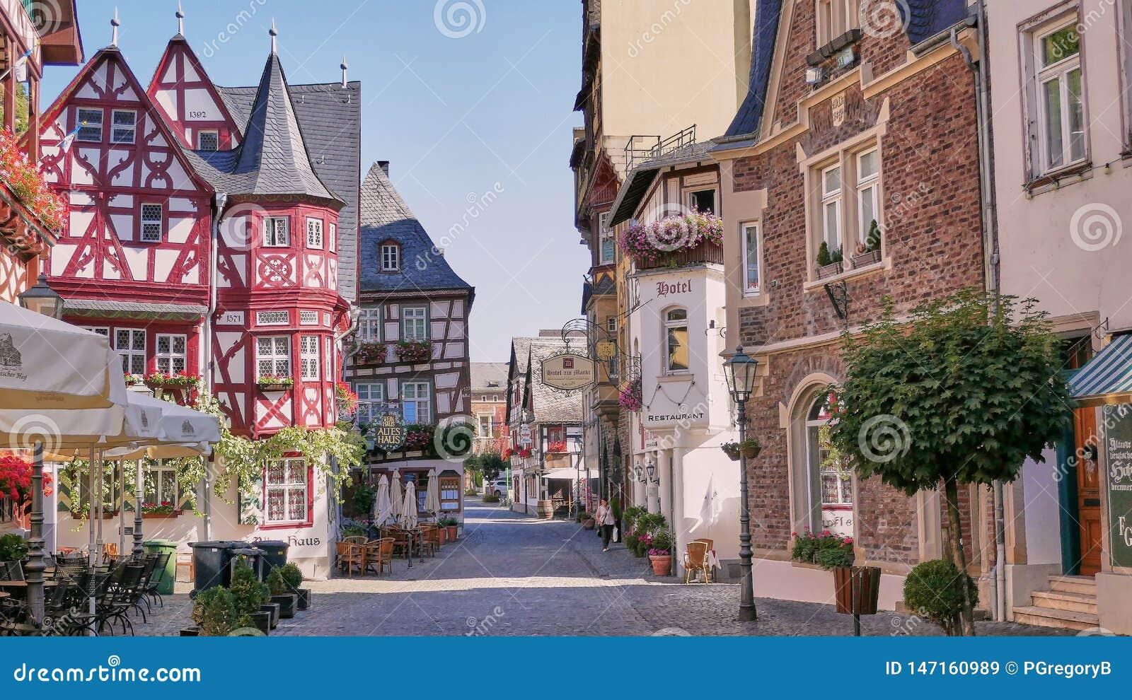 Cidade medieval catita de Bacharach Alemanha