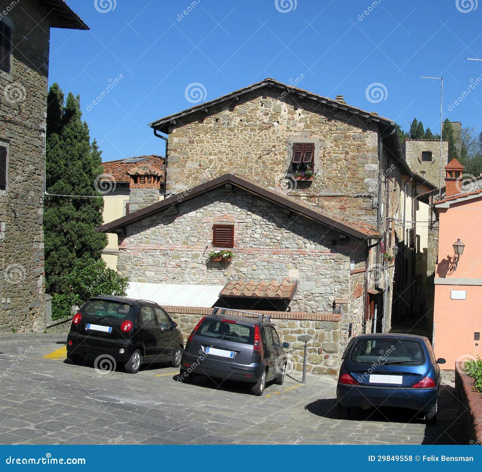 Cidade pequena italiana romântica