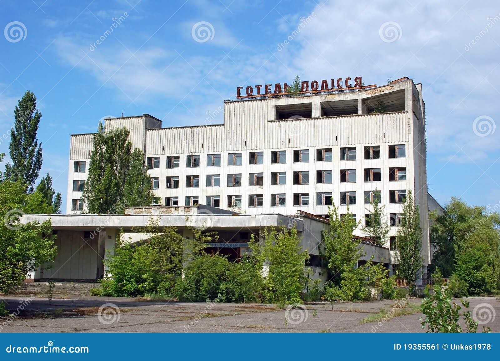 Cidade perdida e abandonada Pripyat, região de Chernobyl