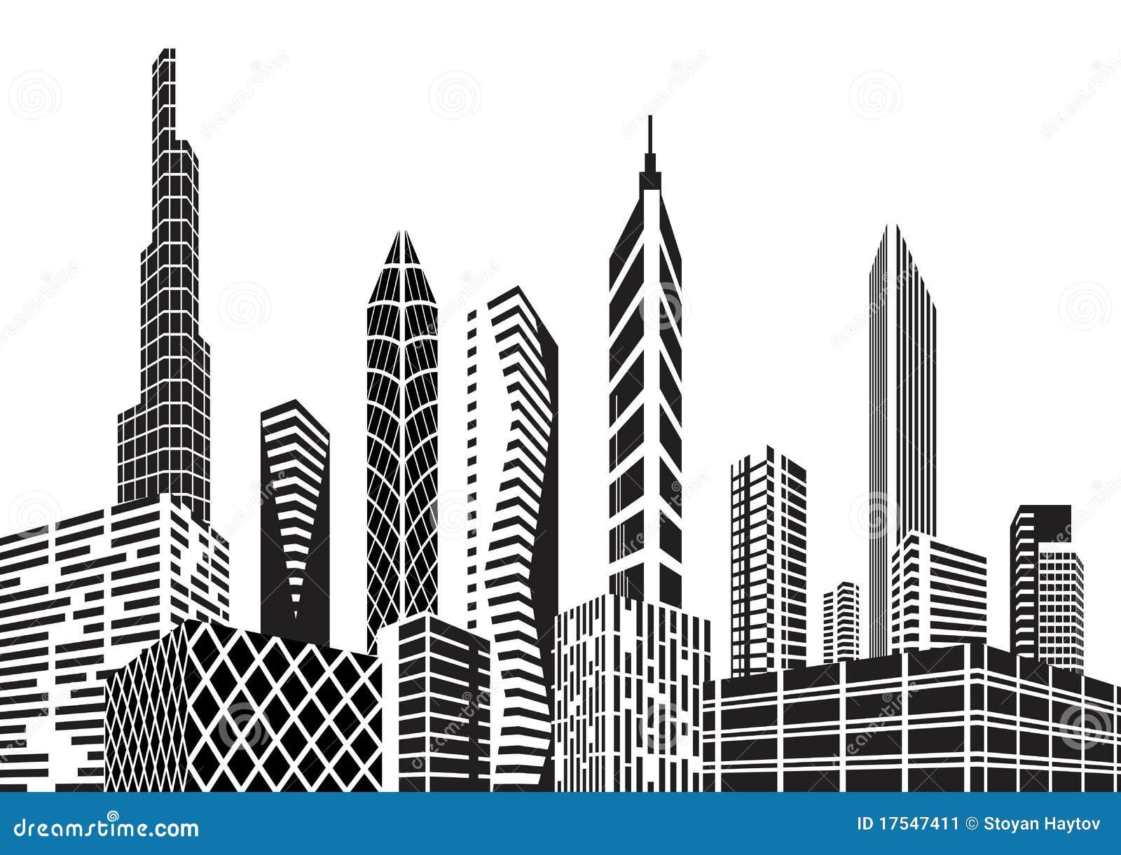 cidade preto e branco imagem de stock imagem 17547411