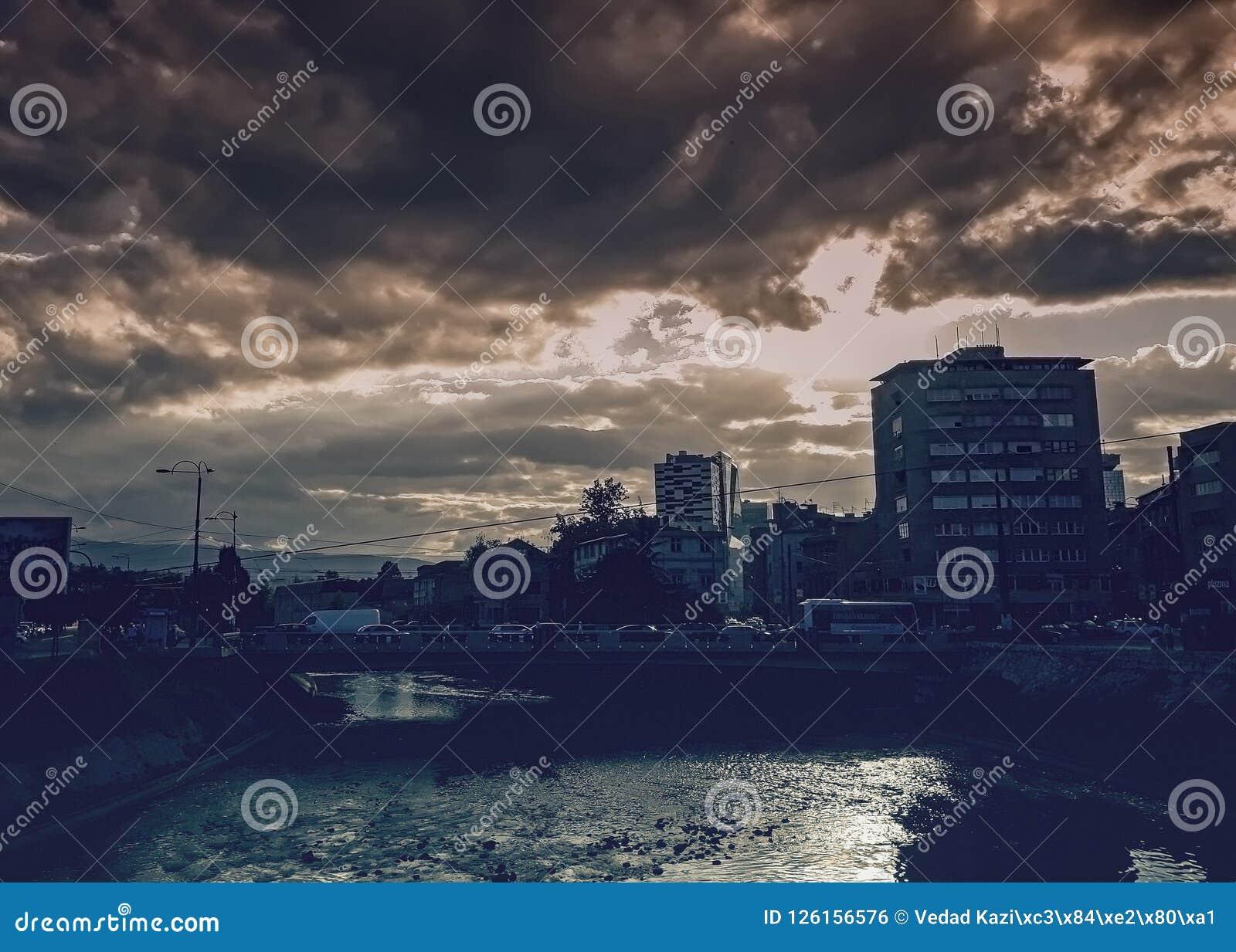 Cidade principal de Sarajevo de Bósnia e de Herzegovina