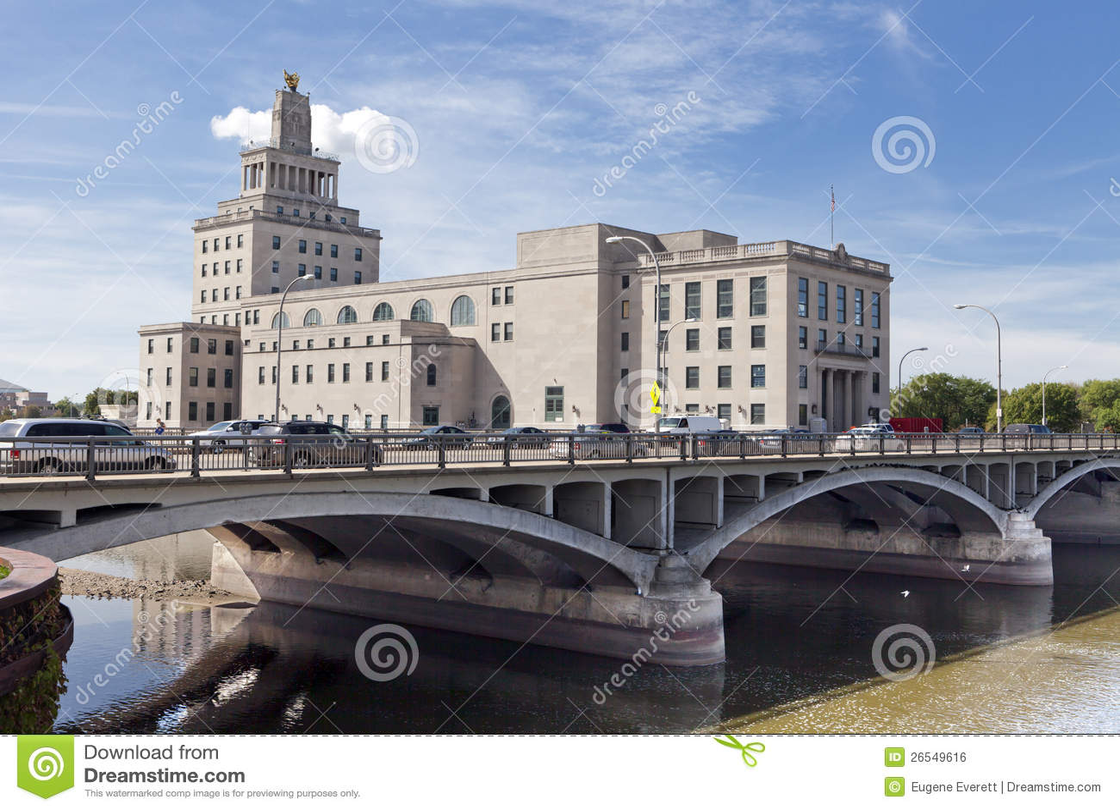 Cidade salão dos Rapids de cedro