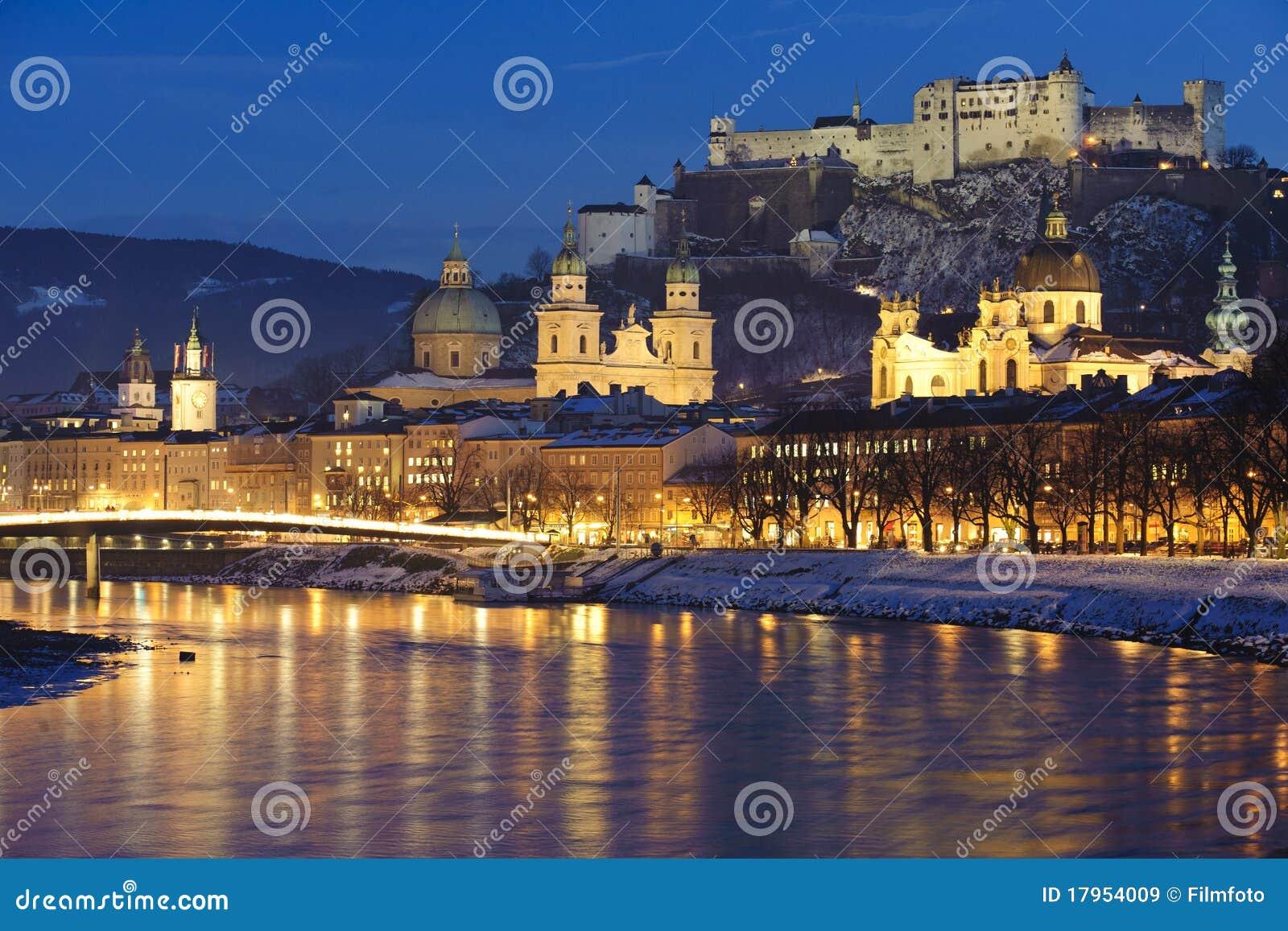 Cidade Salzburg em Áustria