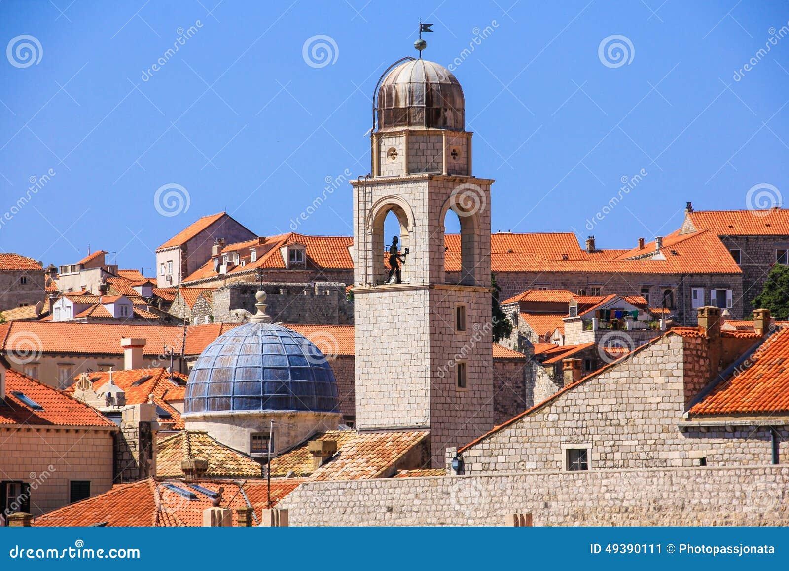 Cidade velha da Croácia de Dubrovnik
