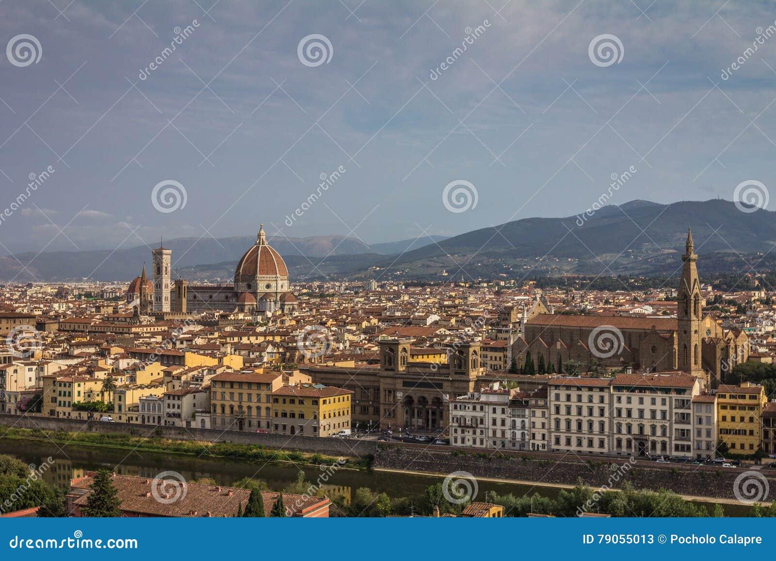 Cidade velha de Florença em Itália