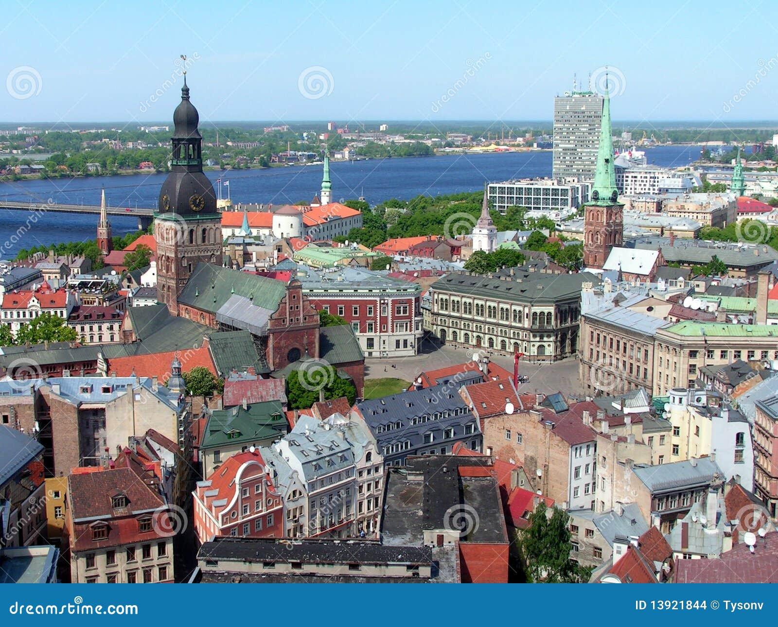 Cidade velha de Riga, Latvia