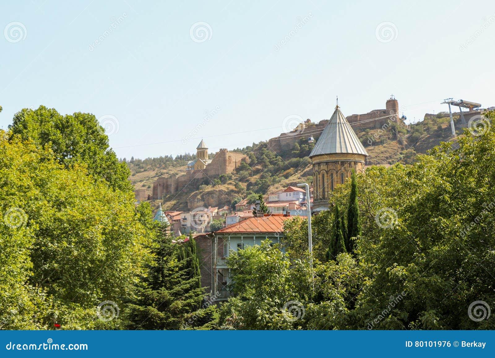 Cidade velha de Tbilisi, da capital de Geórgia