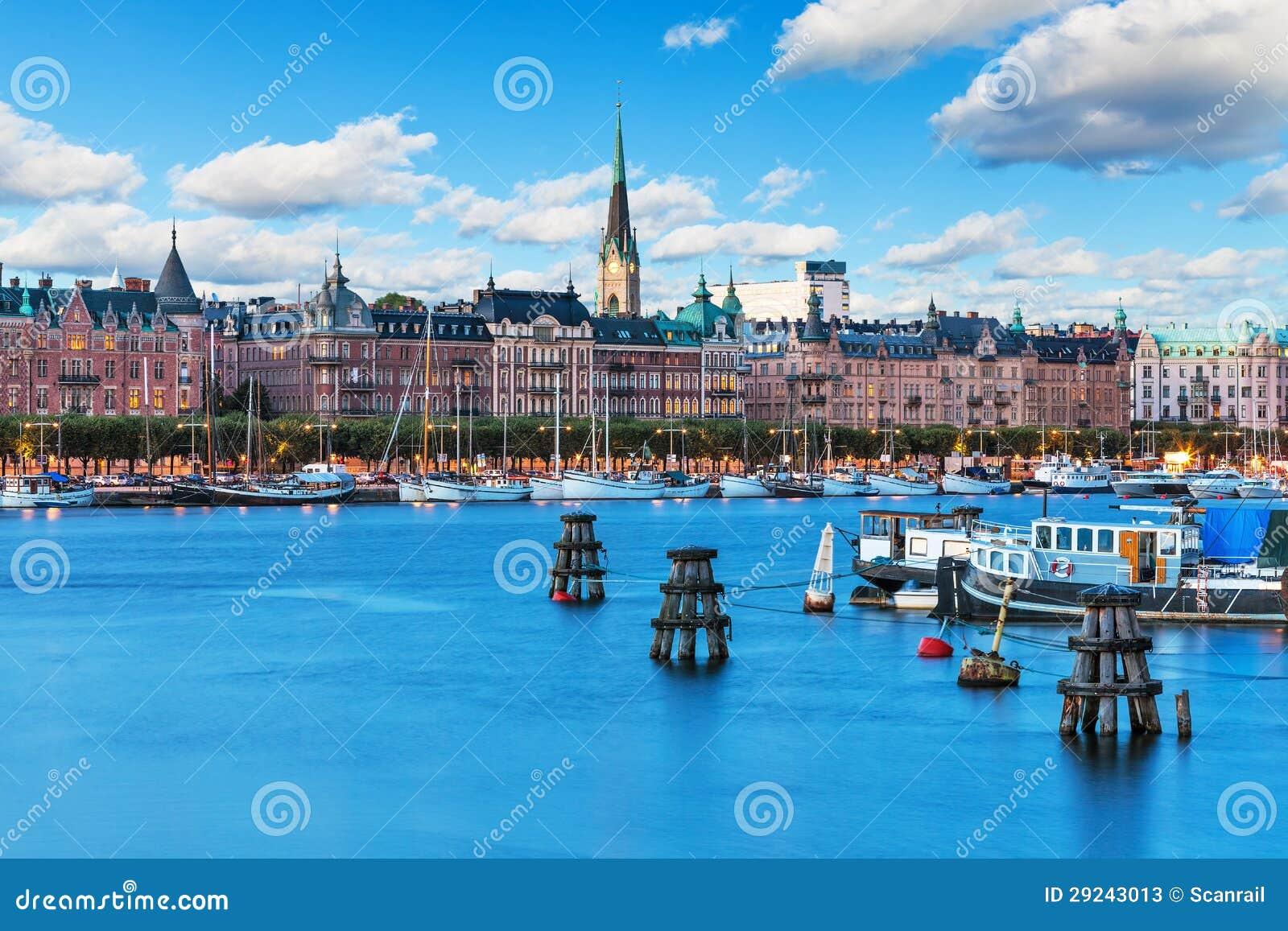 Download Cidade Velha Em Stockhom, Sweden Imagem de Stock - Imagem de arquitetura, velho: 29243013