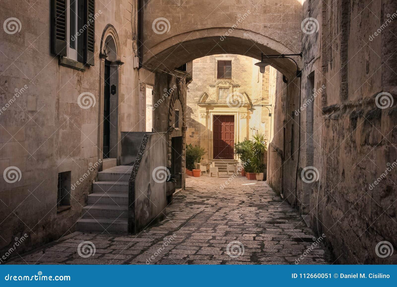 Cidade velha Matera Basilicata Apulia ou Puglia Italy