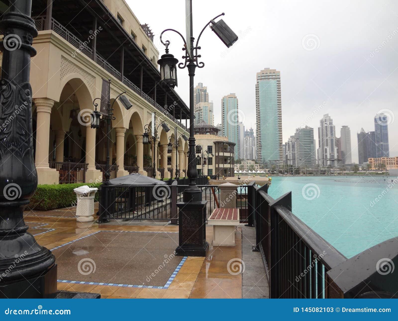 Cidade velha moderna Médio Oriente Dubai