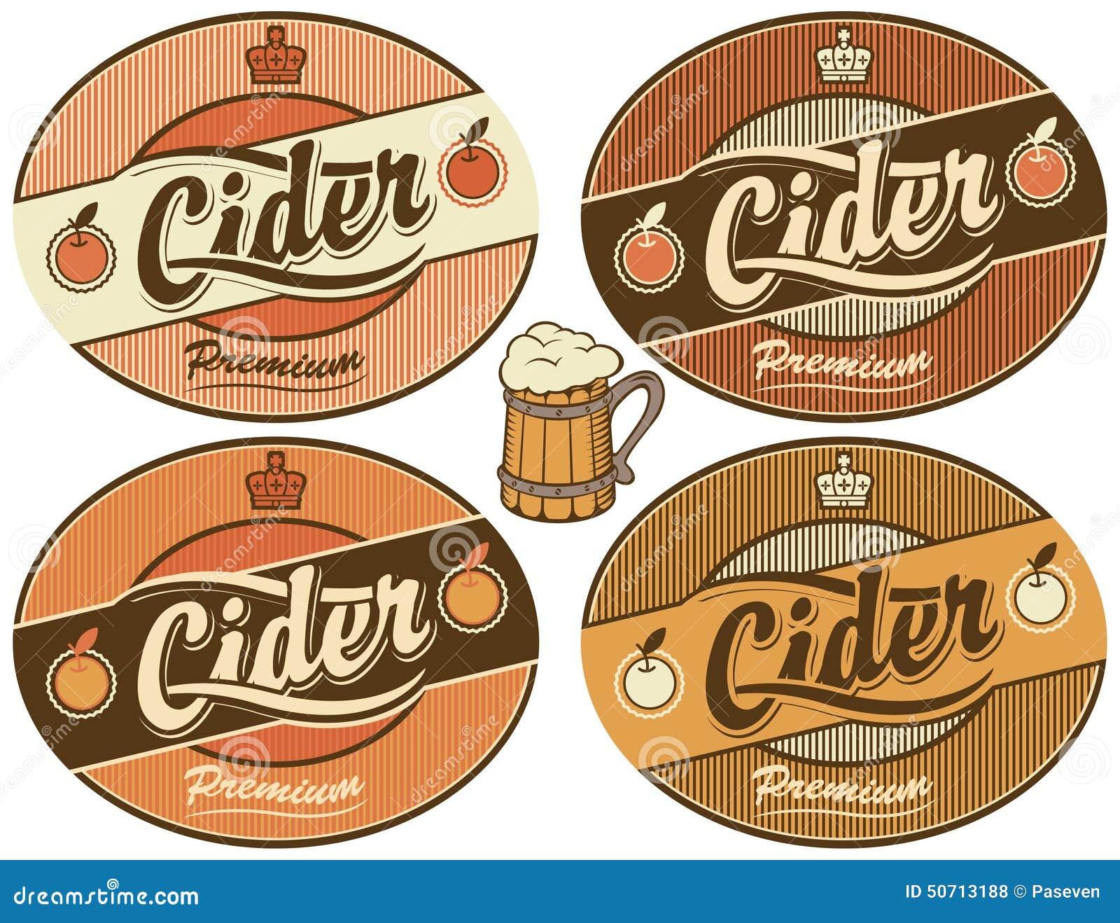 Cider Label Stock Vector Illustration Of Decoration 50713188