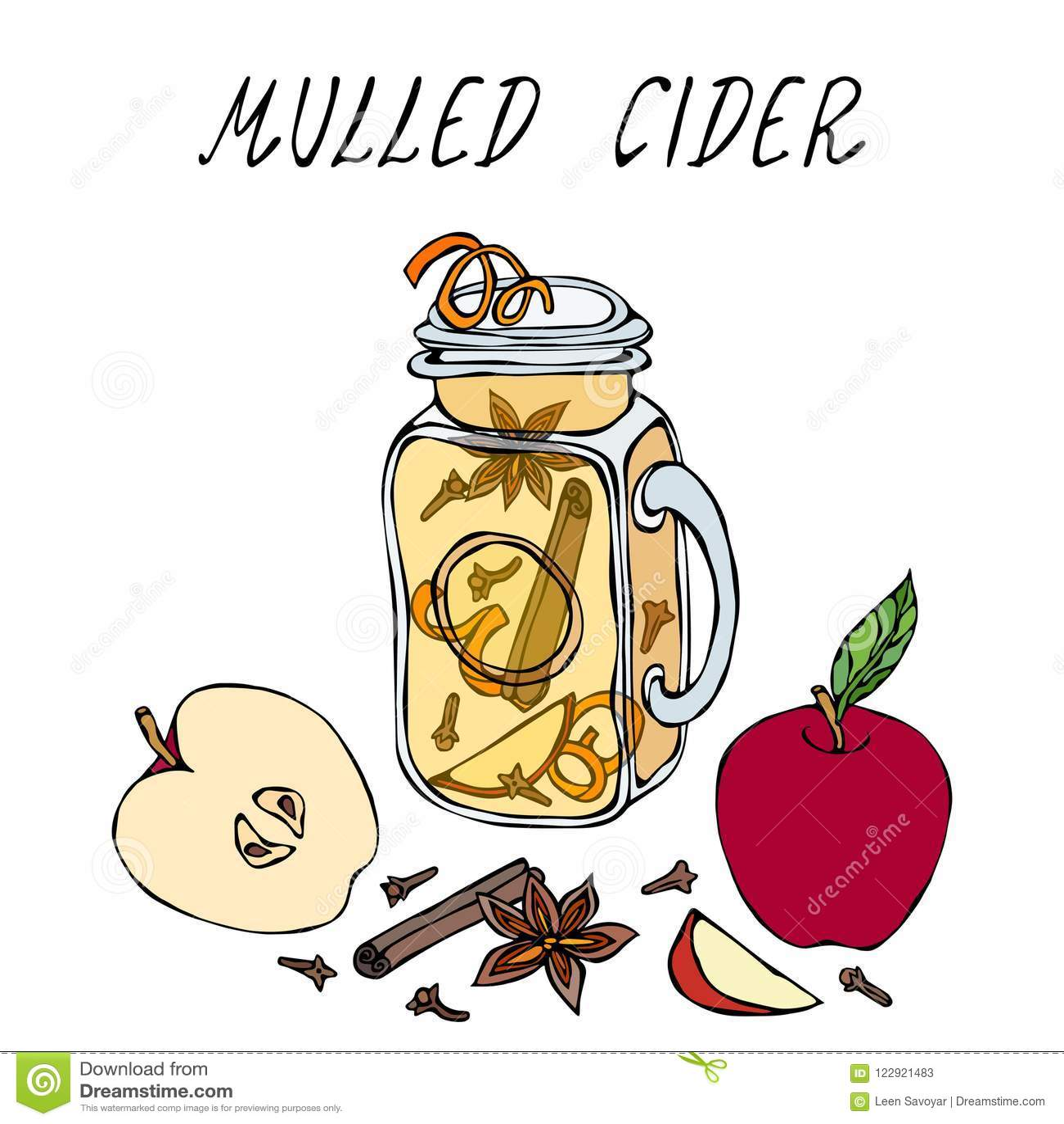 Cidre chaud en Mason Jar Ou vin blanc chauffé Boisson de chauffage Menu de barre Collection de récolte d automne Haut Qualit tiré