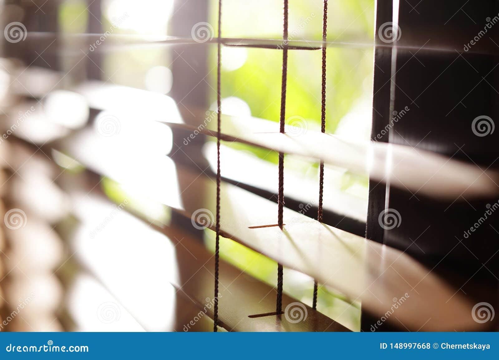 Ciechi di finestra orizzontali soleggiati
