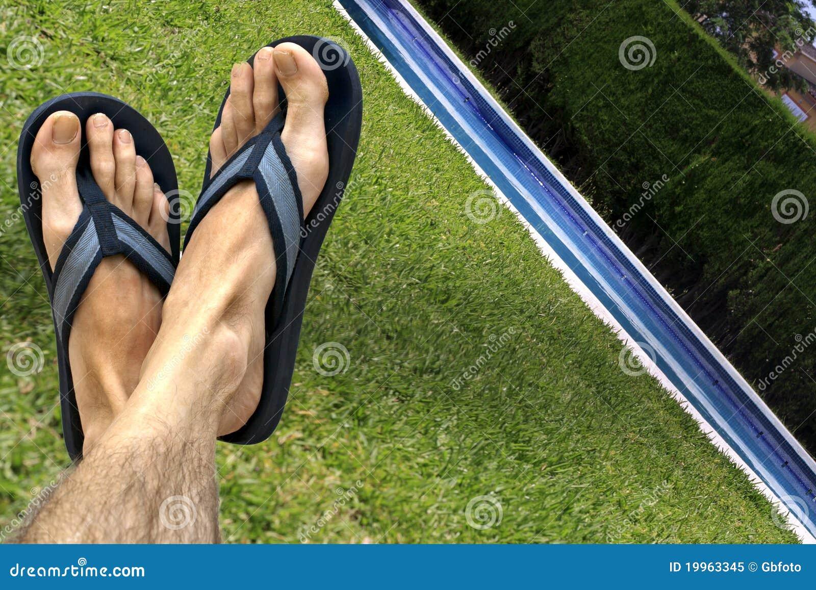 Cieki basenów sandałów