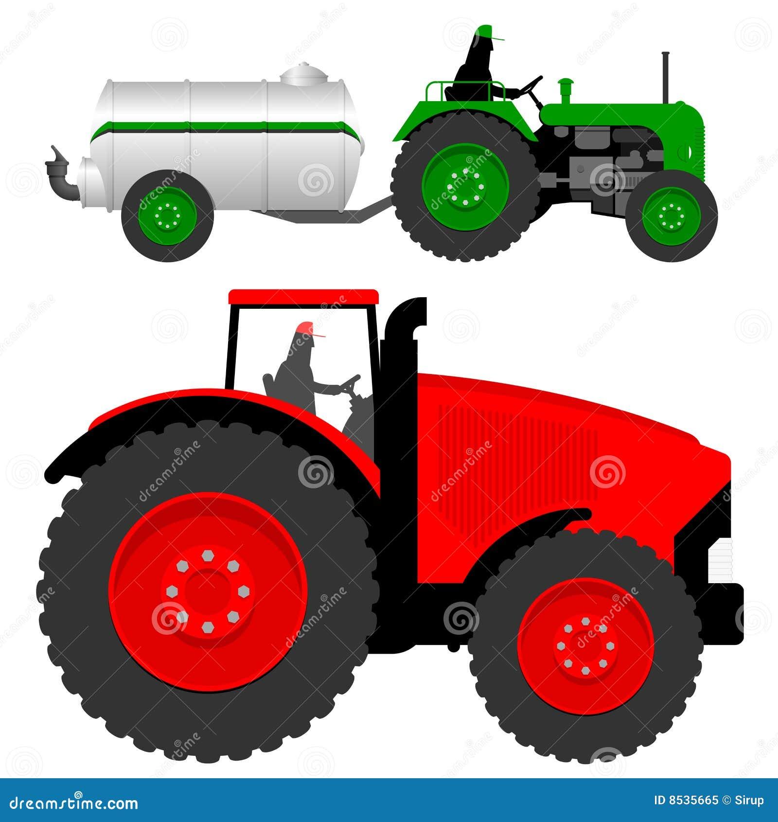 Ciekli nawozu tankowa ciągniki