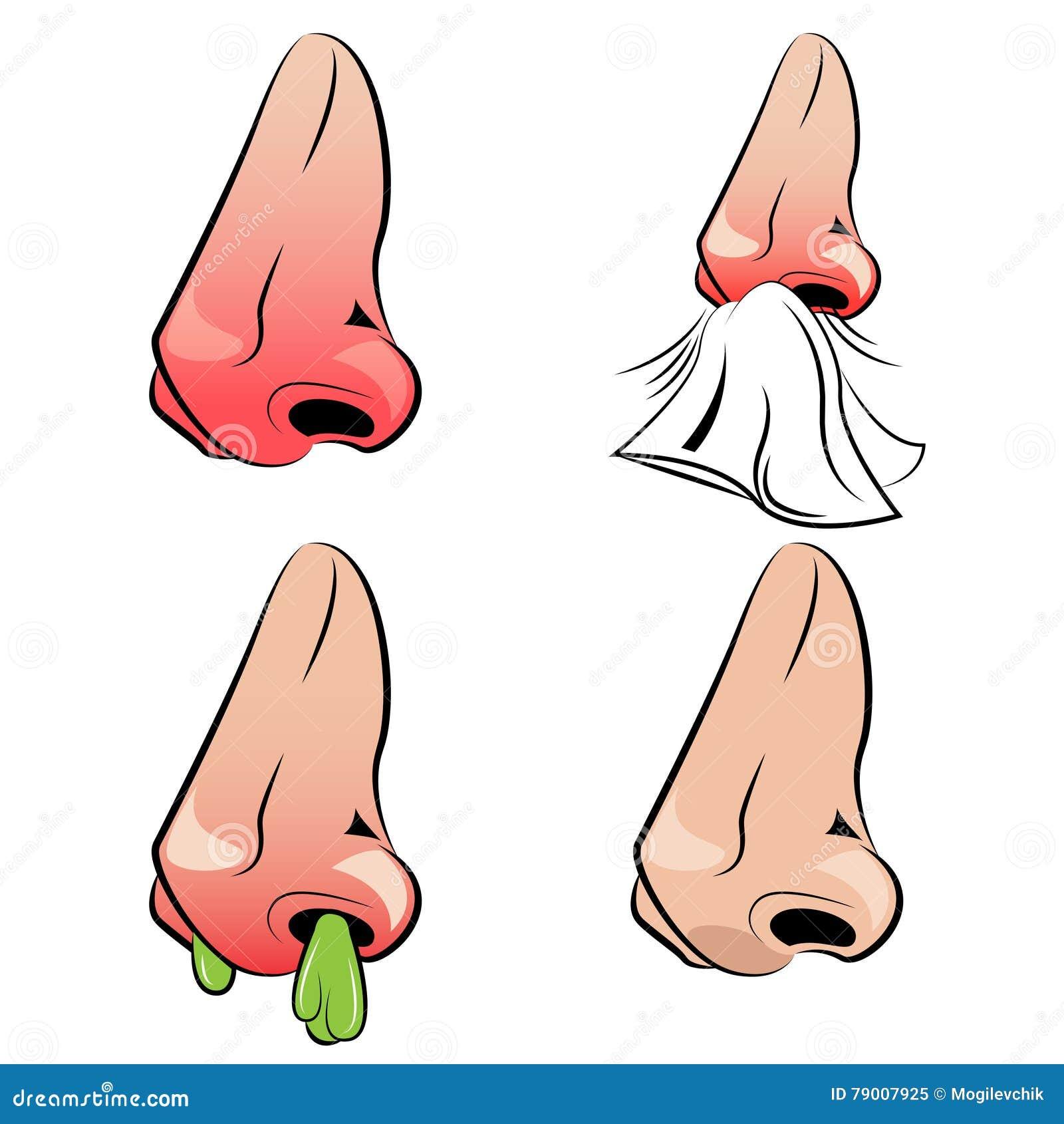 Cieknącego nosa set