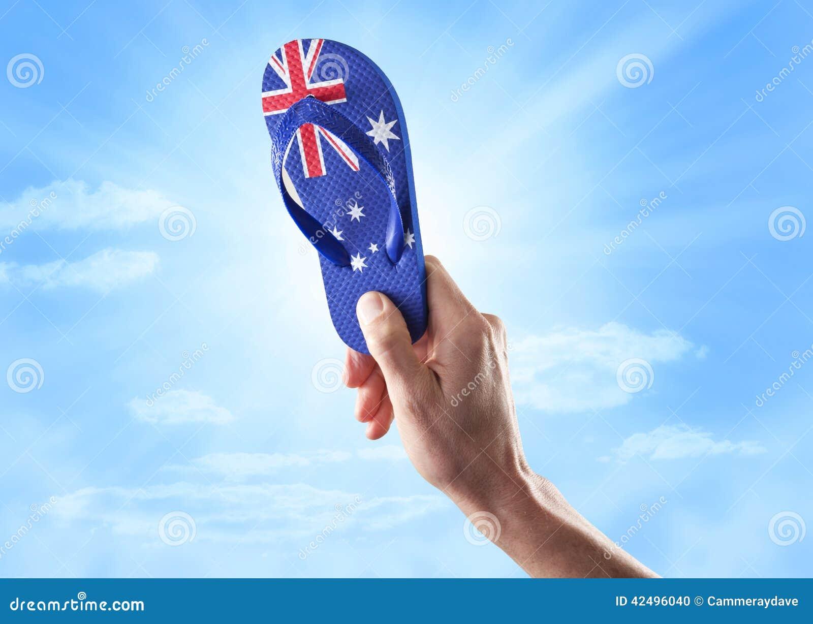 Ciel australien de lanière de drapeau