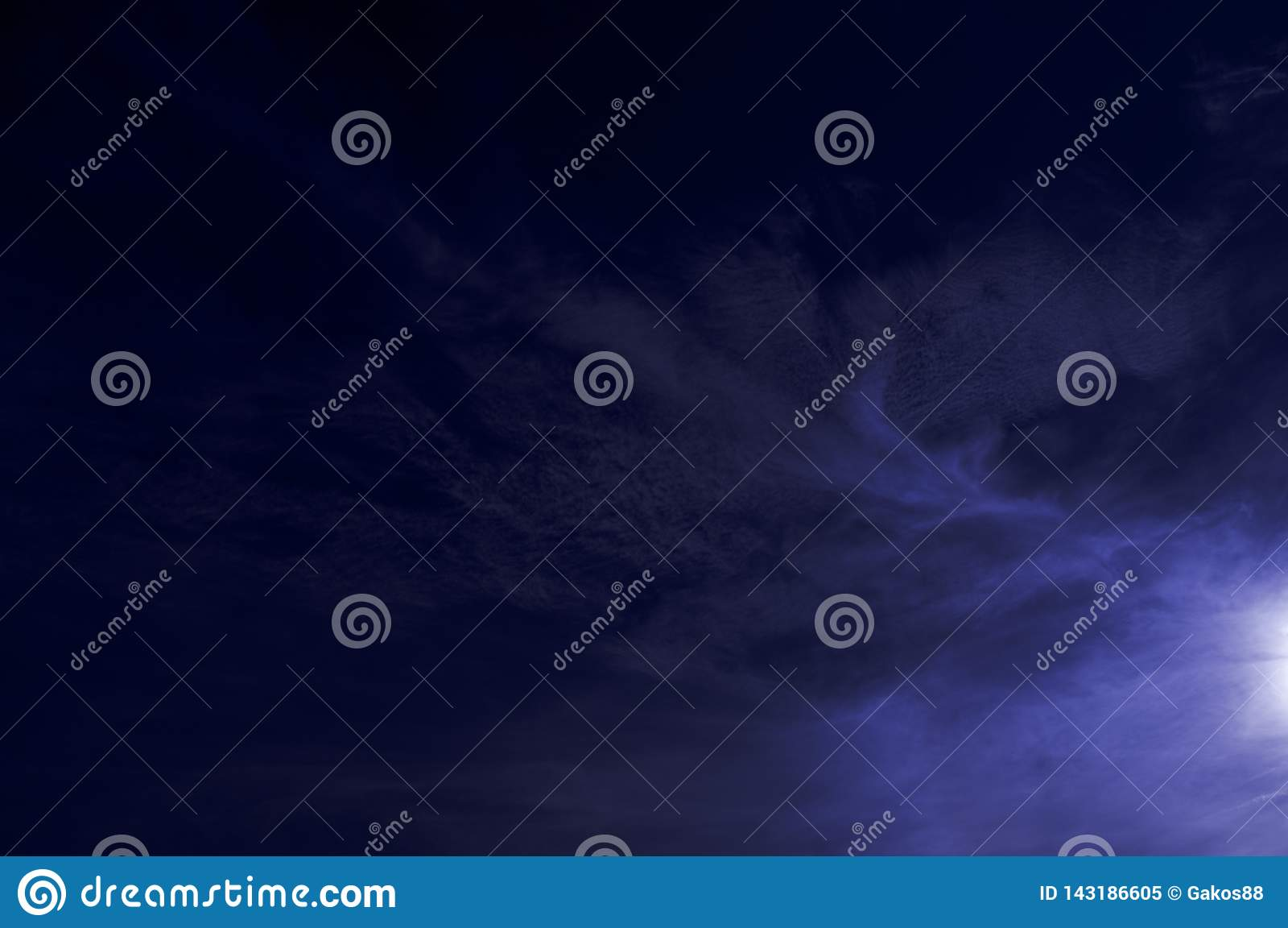 Ciel bleu de Swirly