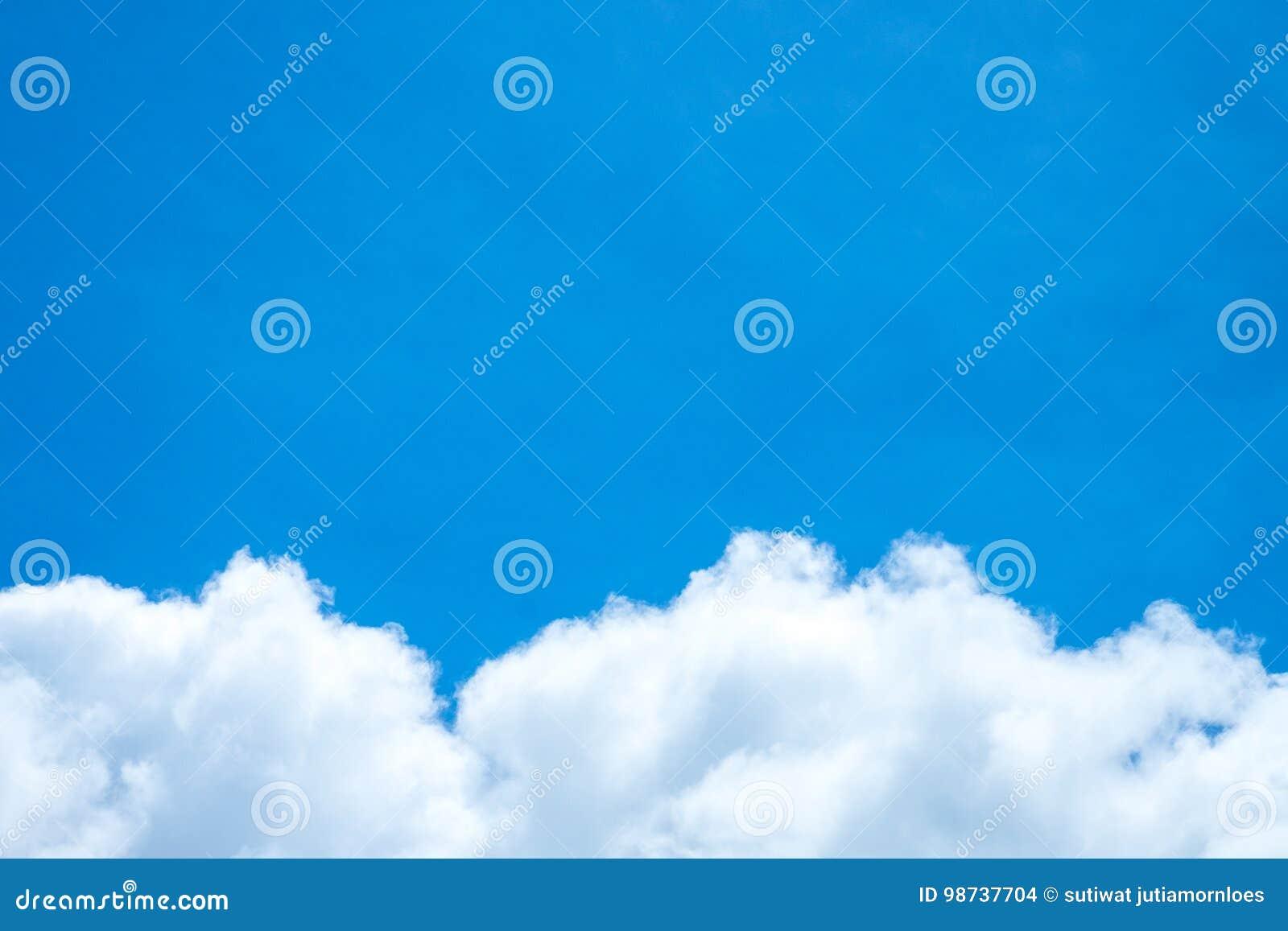 Ciel bleu et nuage blanc Jour ensoleillé Cumulus
