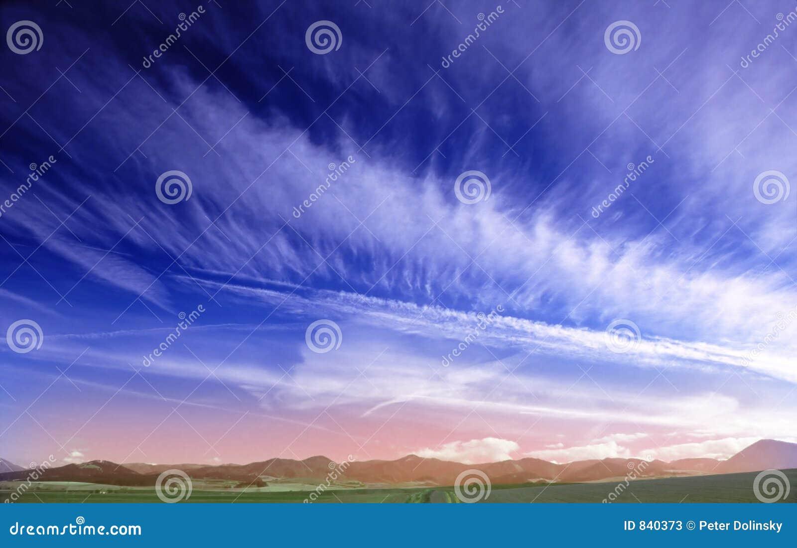 Ciel bleu profond