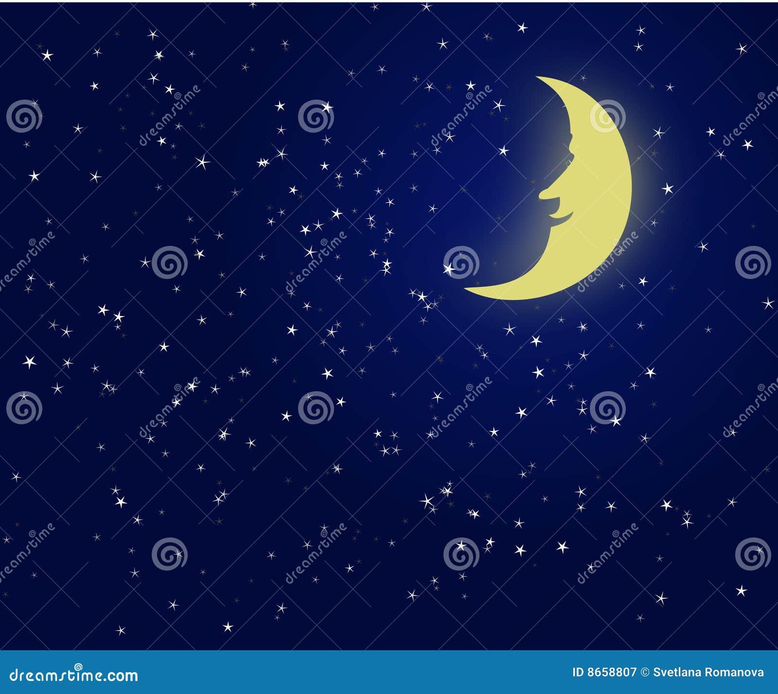 Ciel de nuit fantastique de lune d illustration