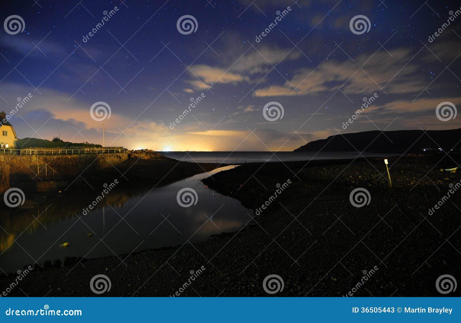 Ciel nocturne au déversoir de Porlock